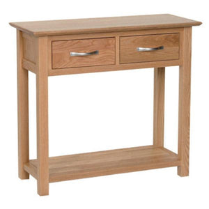 New Oak Console with 2 Drawers