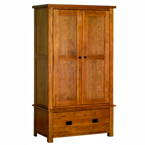Rustic Oak Gents Drawer Wardrobe with 1 Drawer