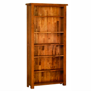 Rustic Oak 6ft Bookcase