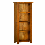 Rustic Oak 5ft Narrow Bookcase