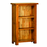 Rustic Oak 3ft Narrow Bookcase