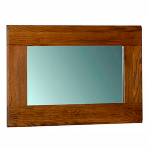 Rustic Oak Wall Mirror 900mm x 600mm