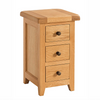 Somerset Oak Compact 3 Drawer Bedside