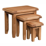 Somerset Oak Nest of Tables