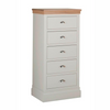 Lundy Pine Painted 5 Drawer Wellington