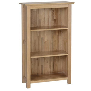 New Oak 3ft Narrow Bookcase