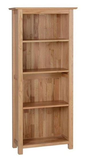 New Oak 5ft Narrow Bookcase