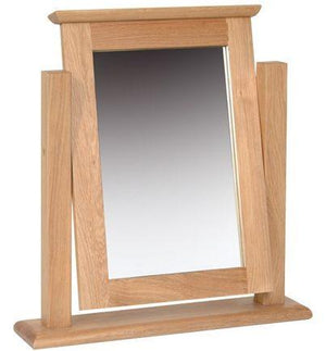 New Oak Single Dressing Table Mirror