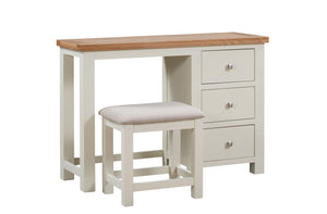Dorset Painted Oak Single Pedestal Dressing Table with Stool