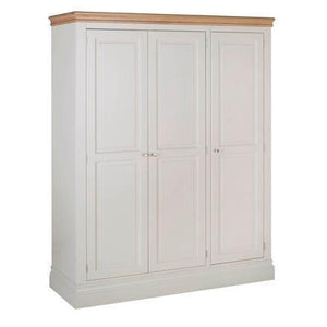 Lundy Pine Painted Freestanding Wardrobe with 3 Doors
