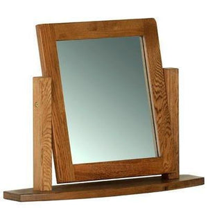Rustic Oak Single Dressing Table Mirror