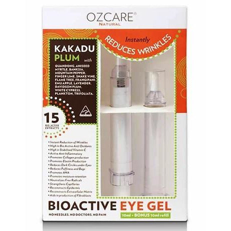 firming, reduces wrinkles, bioactive, eye gel, australian made