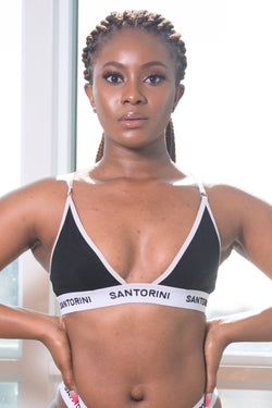 BLACK TRIANGLE BRA - Santorini Underwear