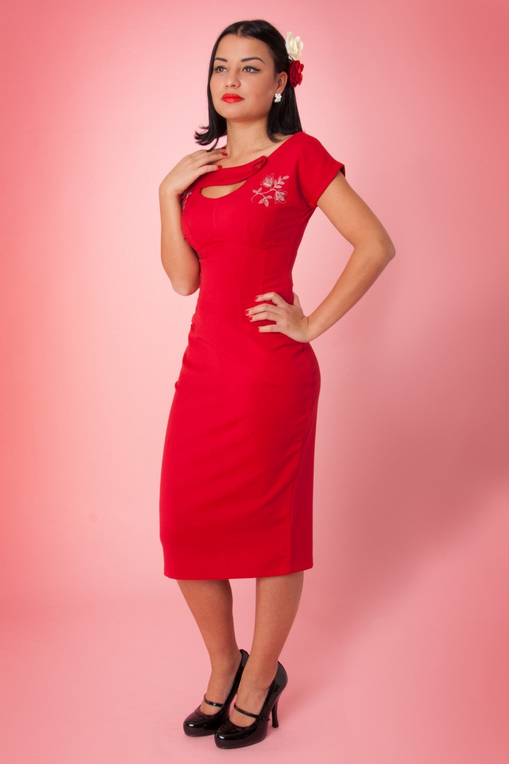 Bettie Page Sierra Dress Red