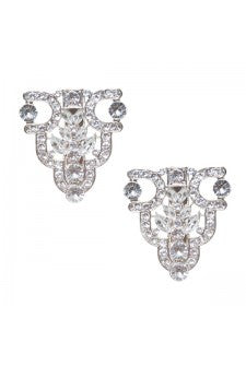 Dress clip silver diamante