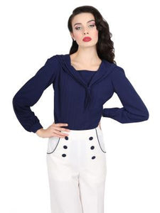 Wendy Sailor Blouse Navy