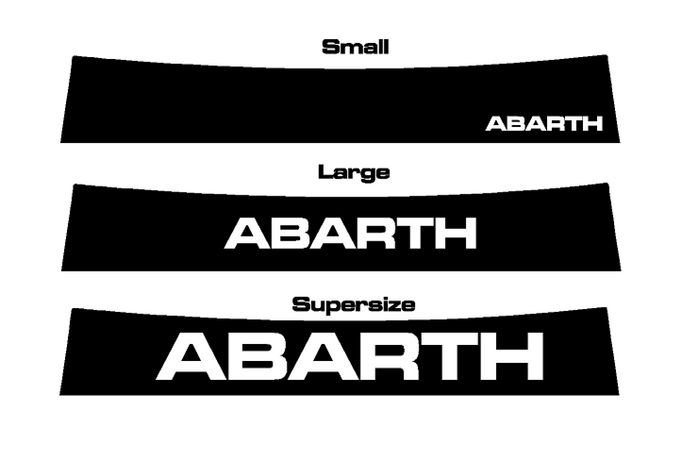 ABARTH Sunstrip Decals - Abarth Tuning