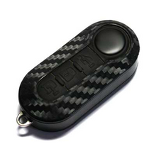 Load image into Gallery viewer, Carbon Fibre Look Vinyl Key Cover for Abarth 500 & Punto Models