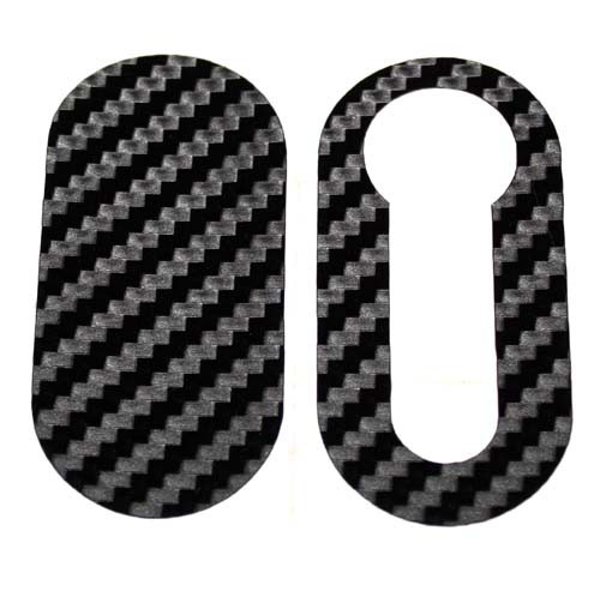 Carbon Fibre Look Vinyl Key Cover for Abarth 500 & Punto Models SALE - Abarth Tuning