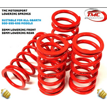 Load image into Gallery viewer, TMC/VMAXX Lowering Springs for all Abarth 500,595 and 696 Models