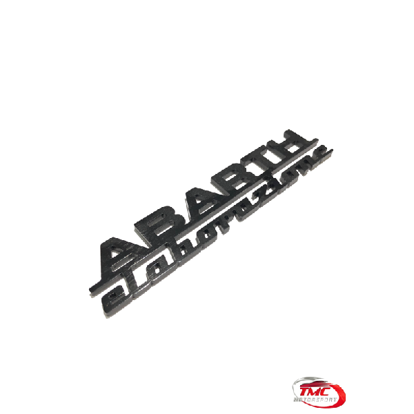Abarth Elaborazione Badge Black or Silver 15 cm x 3 cm