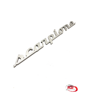 Abarth Scorpione Badge Black or Silver 20 cm x 2 cm