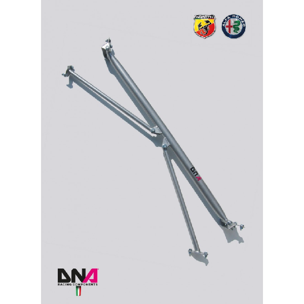 Abarth Punto Rear Strut Bar With Tie Rods Kit - DNA RACING - Abarth Tuning