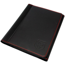 Load image into Gallery viewer, Abarth Black With Red Stitching Handbook Document Wallet Holder - Abarth Tuning