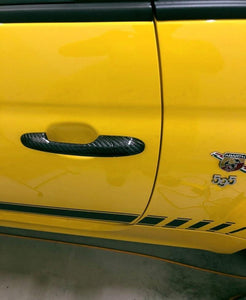 Abarth 500/595 Door Handles - Carbon Fibre - Abarth Tuning