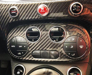 Abarth 595 2016> AC Climate Control Cover - Carbon Fibre - Abarth Tuning