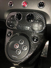 Load image into Gallery viewer, Abarth 595 2016> AC Climate Control Cover - Carbon Fibre - Abarth Tuning