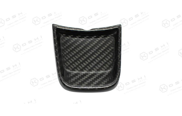 Abarth 595 2016> Frontal Decor Cover Steering Wheel - Carbon Fibre - Abarth Tuning