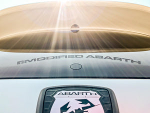 Modified Abarth rear window sticker (outside type)