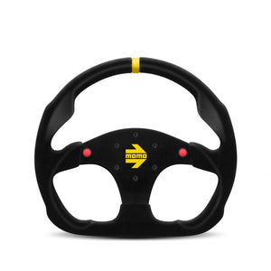 MOMO Mod. 30 - Black Suede 320mm Track Steering Wheel