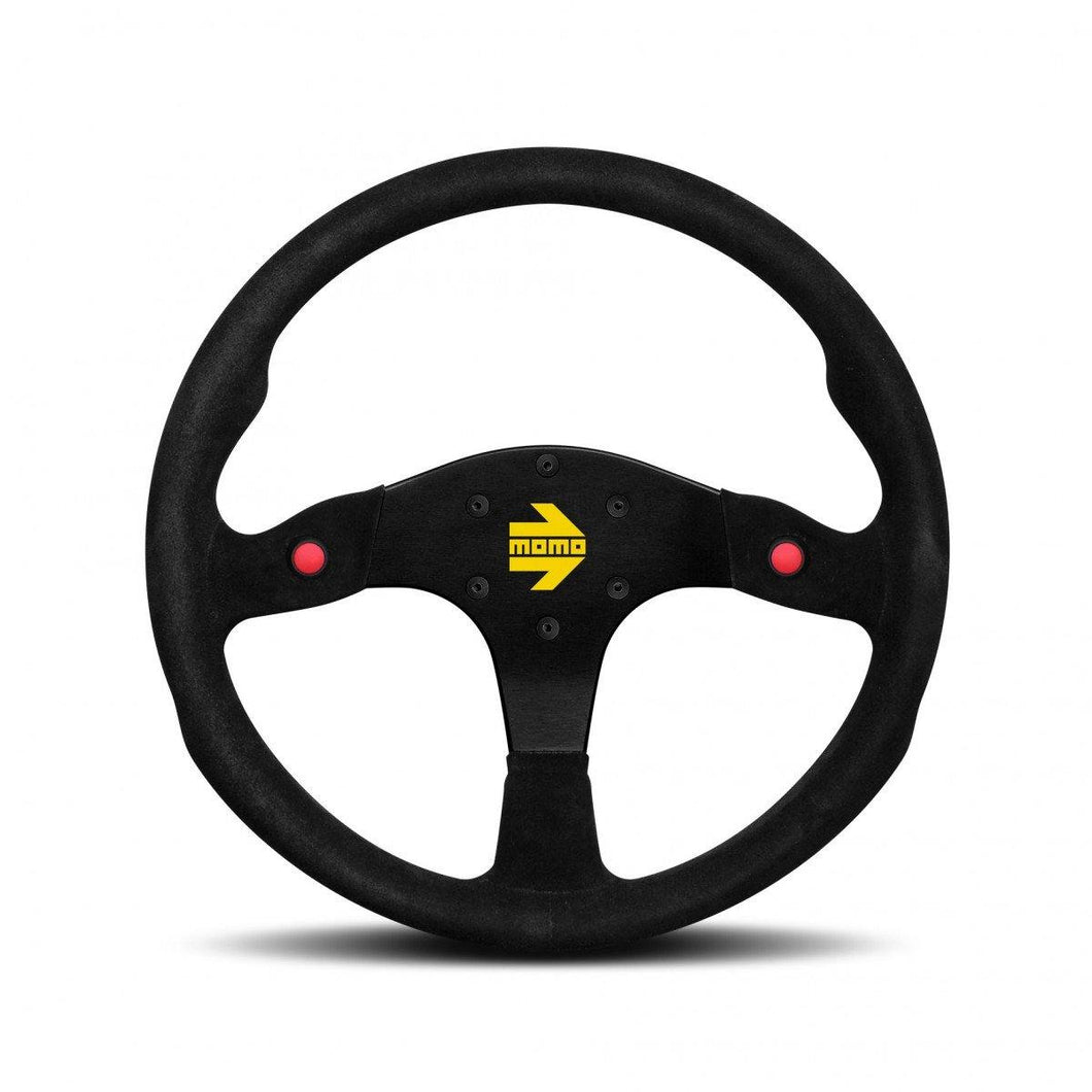 MOMO Mod. 80 - Black Suede 350mm Track Steering Wheel