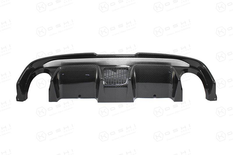 Abarth 500 Double Exhaust Diffuser 595 Style - Carbon Fibre - Abarth Tuning