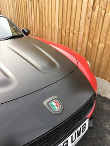 124 Tricolore Scorpion Badge overlays carbon option available. Set of two
