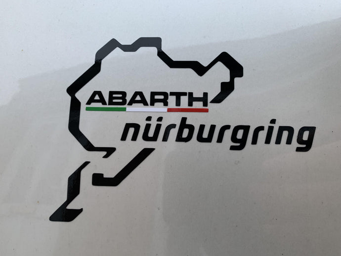 Abarth Nurburgring decal outside version. - Abarth Tuning