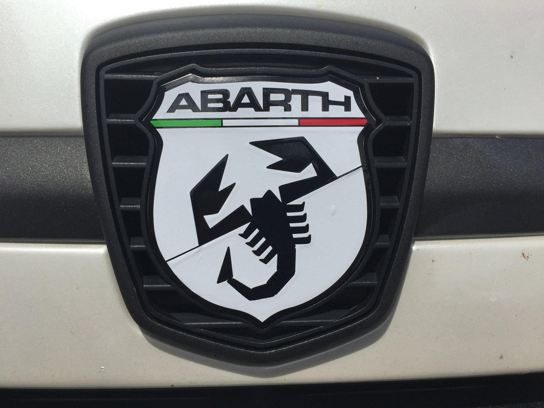 Abarth 500/595 Badge decals front and back with Italian flag detail