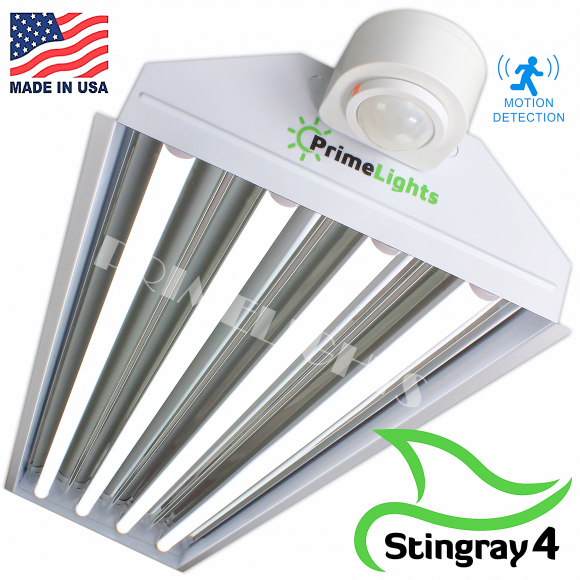 LED StingRay 4 XL MOTION ACTIVATED Shop Light (Frosted DIffuser)