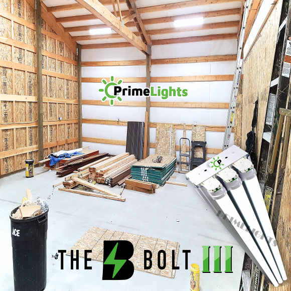 The BOLT – 3 Lamp LED Shop Light – 8,550 Lumens (Frosted Diffuser)