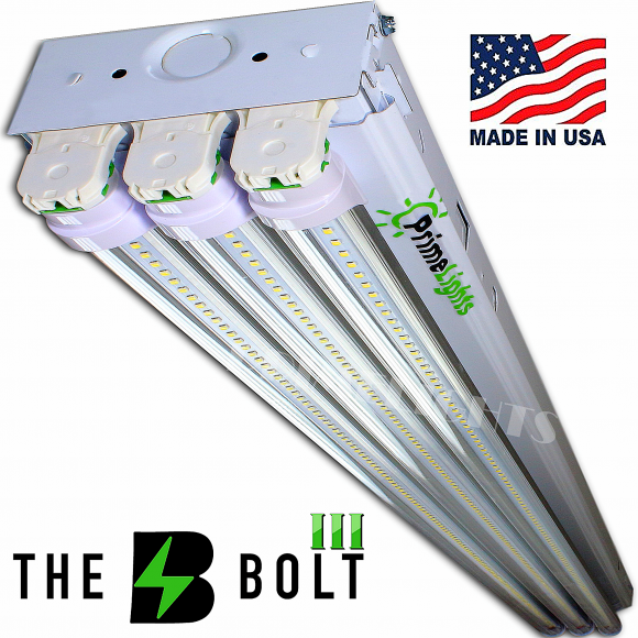 The BOLT – 3 Lamp LED Shop Light – 8,550 Lumens (Clear Lens)