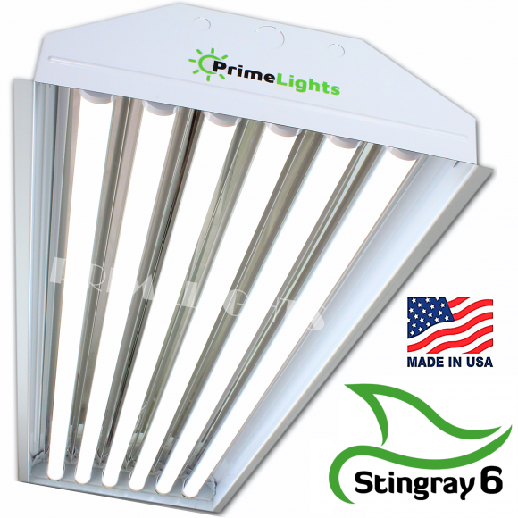 LED 6 Lamp T8 STINGRAY 6XL Highbay Fixture 132 Watts Frosted