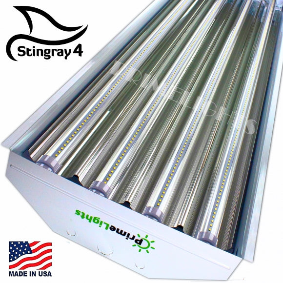 LED 4 Lamp T8 STINGRAY 4XL Highbay Fixture 88 Watt Clear