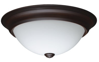 "18W LED 13"" in. Round Glass Bronze Trim Fixture"