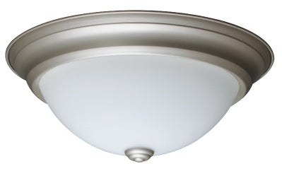 "18W LED 13"" in. Round Glass Brushed Nickel Trim Fixture"