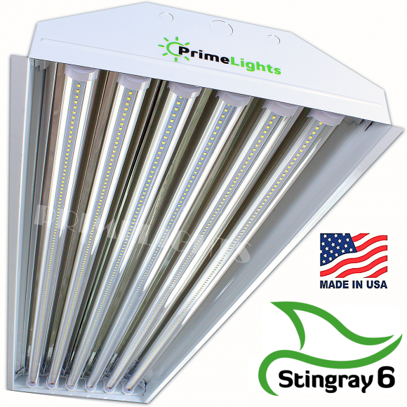 LED 6 Lamp T8 STINGRAY 6 Highbay Fixture 108 Watts