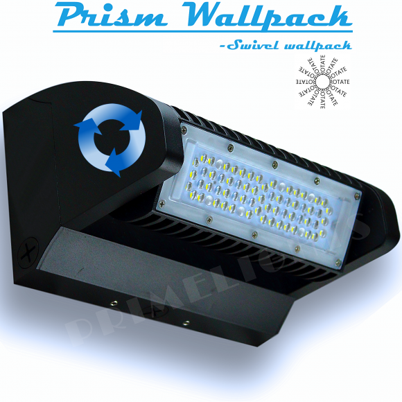 LED Wall Pack - Swivel - 5,200 Lumens, Fully adjustable
