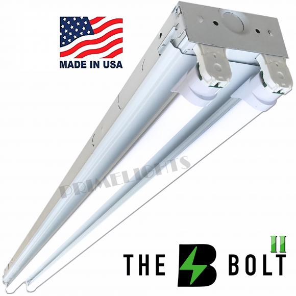 The BOLT – 2 Lamp LED Shop Light – 5,700 Lumens Frosted