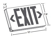 LED Exit Sign (Case of 4)